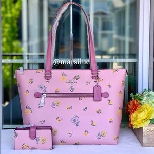 🌺NEW COACH GALLERY TOTE SET